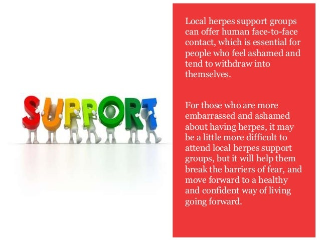 Online support groups for genital herpes