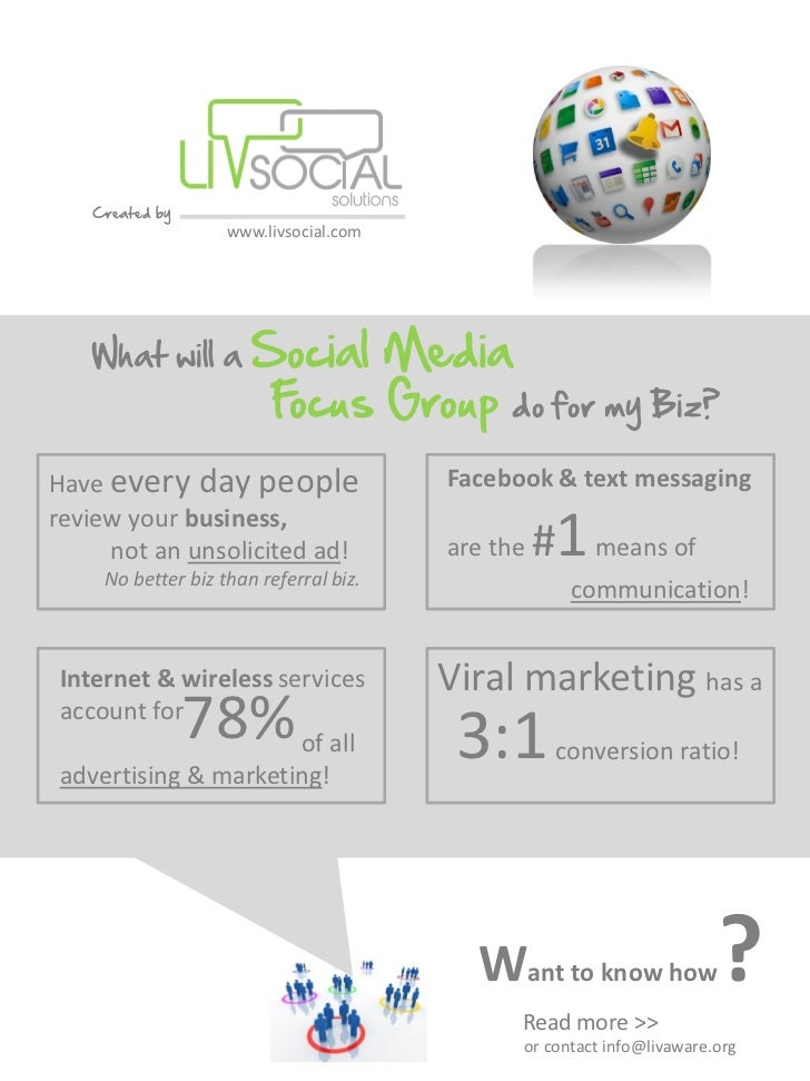 Created by                   www.livsocial.com   What will a        Social Media                       Focus Group do for ...
