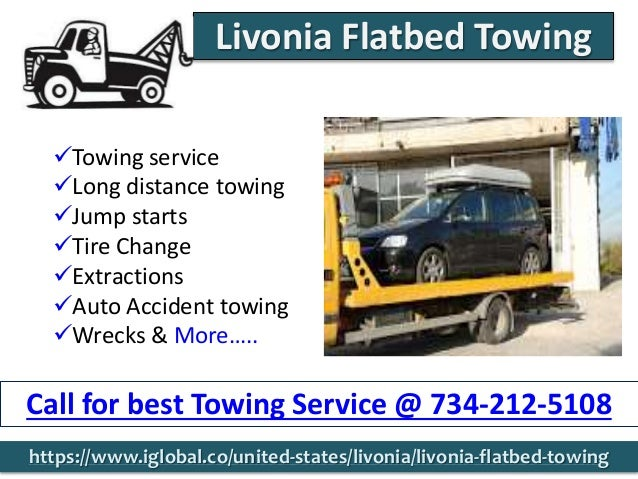 Towing service Long distance towing Jump starts Tire Change Extractions Auto Accident towing Wrecks & More….. Call ...