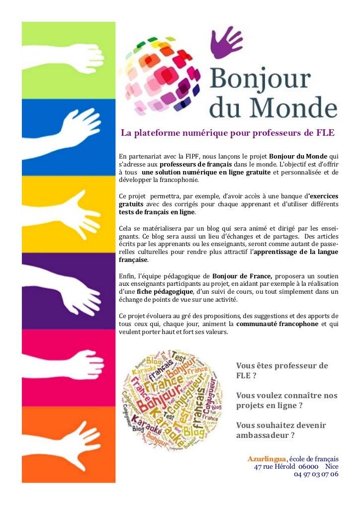La plateforme numérique pour professeurs de FLE                                  En partenariat avec la FIPF, nous lançons...
