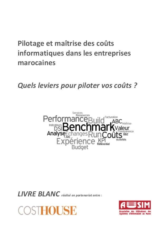 Pilotage et maîtrise des coûts informatiques dans les entreprises marocaines Quels leviers pour piloter vos coûts ? LIVRE ...