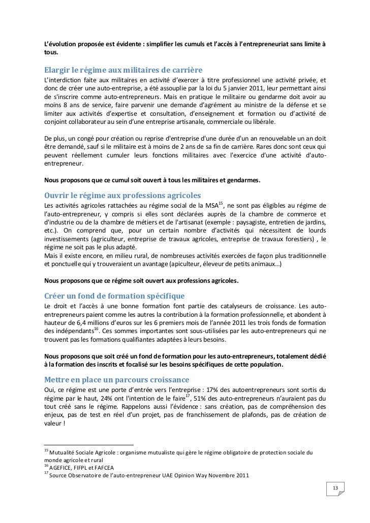 Livre blanc de l 39 auto entrepreneur - Auto entrepreneur chambre des metiers ...