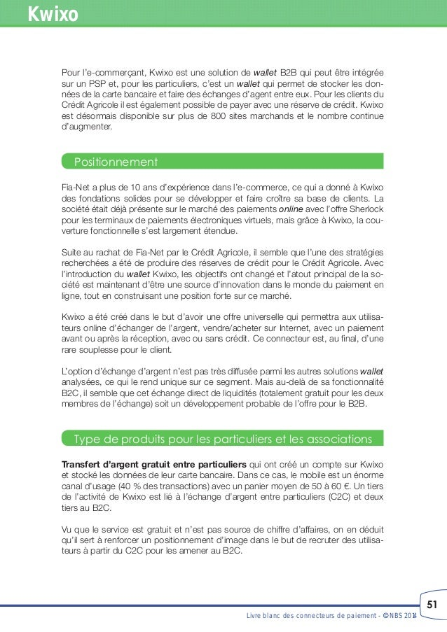Livre blanc des connecteurs de paiement - Augmenter plafond carte bancaire credit agricole ...