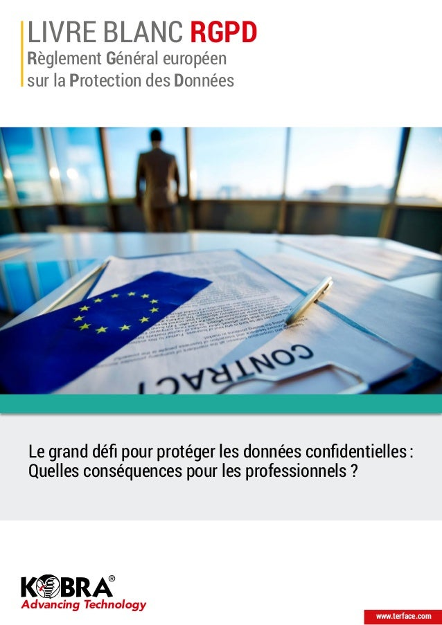 LIVRE BLANC RGPD Règlement Général européen sur la Protection des Données Advancing Technology www.terface.com Le grand dé...