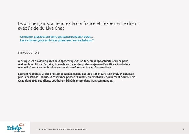 E-commerçants, améliorez la confiance et la satisfaction de vos clients avec le Live Chat Slide 2