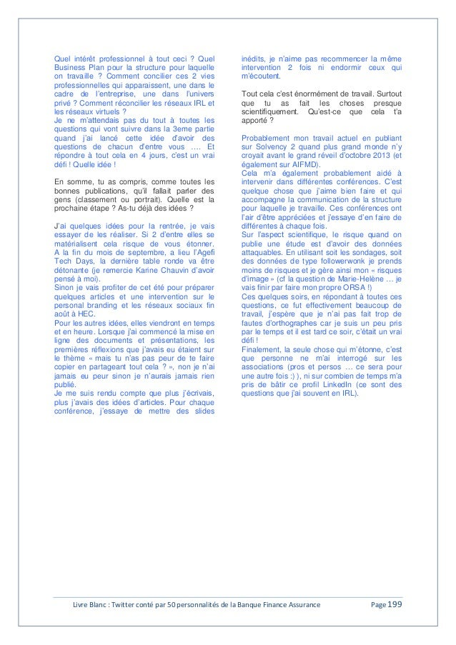 Livre blanc -  Twitter conté par 50 personnalités de la banque finance assurance