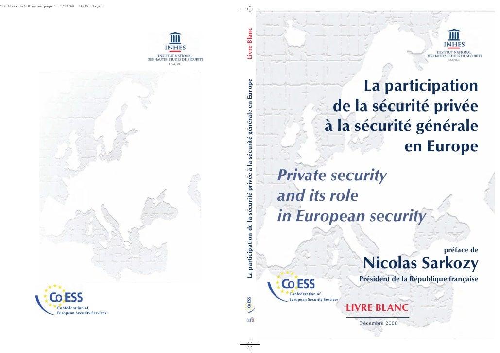 france                              La participation                     de la sécurité privée                    à la séc...