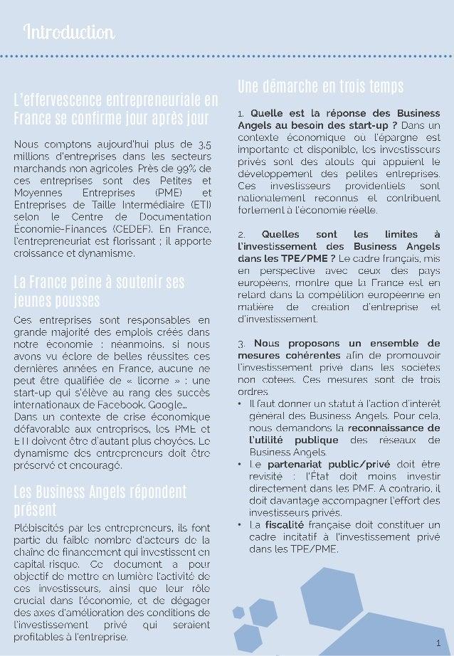 Les Business Angels : éléments moteurs de l'économie française Slide 2
