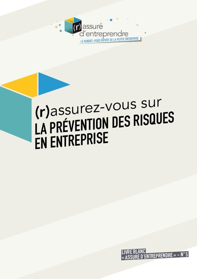 livre blanc sur la pr u00e9vention des risques en entreprise