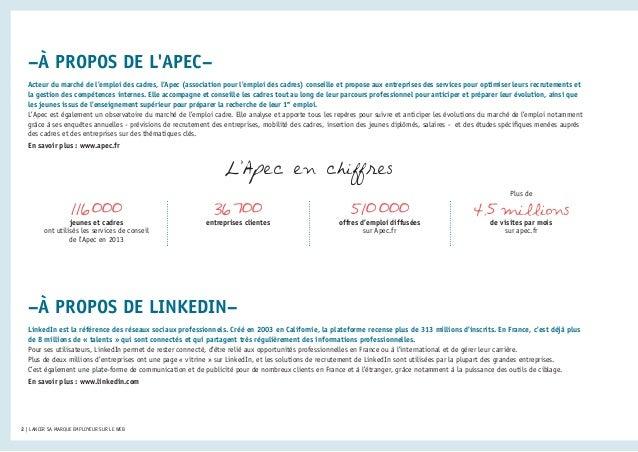 Livre blanc Apec LinkedIn - Lancer sa marque employeur sur le web Slide 2
