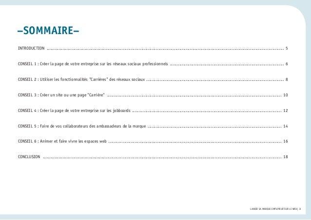 Livre blanc Apec LinkedIn - Lancer sa marque employeur sur le web Slide 3