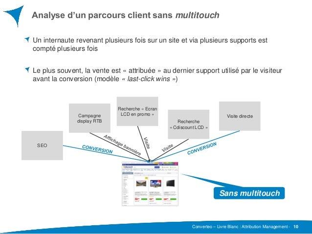 Converteo – Livre Blanc : Attribution Management - Analyse d'un parcours client sans multitouch 10 Un internaute revenant ...