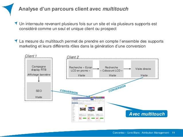 Converteo – Livre Blanc : Attribution Management - Analyse d'un parcours client avec multitouch 11 Un internaute revenant ...