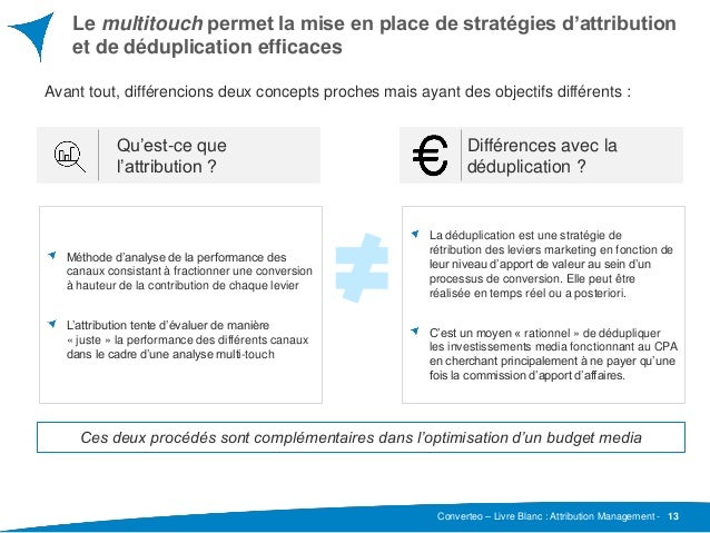 Converteo – Livre Blanc : Attribution Management - Le multitouch permet la mise en place de stratégies d'attribution et de...