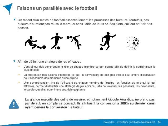 Converteo – Livre Blanc : Attribution Management - Faisons un parallèle avec le football 14 On retient d'un match de footb...
