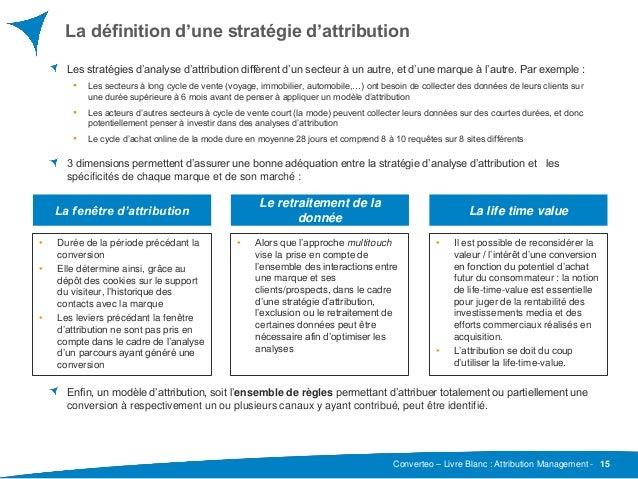 Converteo – Livre Blanc : Attribution Management - La définition d'une stratégie d'attribution Les stratégies d'analyse d'...