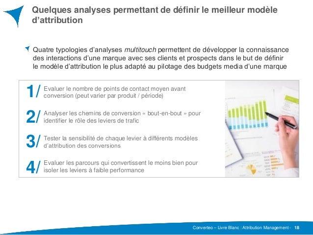 Converteo – Livre Blanc : Attribution Management - Quelques analyses permettant de définir le meilleur modèle d'attributio...