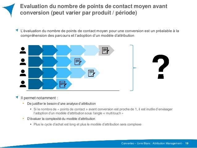 Converteo – Livre Blanc : Attribution Management - Evaluation du nombre de points de contact moyen avant conversion (peut ...