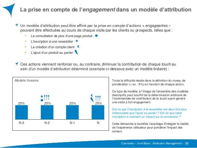 Converteo – Livre Blanc : Attribution Management - La prise en compte de l'engagement dans un modèle d'attribution 23 Un m...