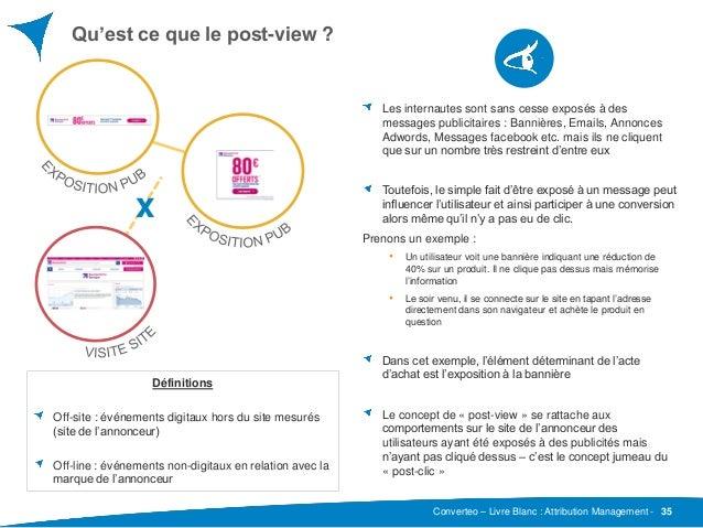 Converteo – Livre Blanc : Attribution Management - Qu'est ce que le post-view ? 35 Les internautes sont sans cesse exposés...