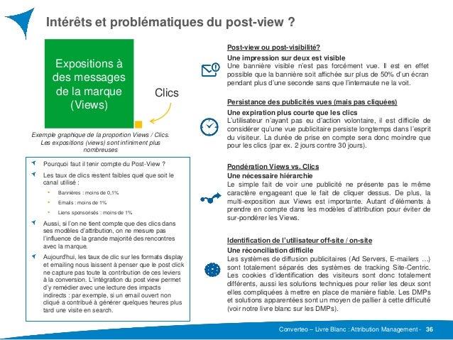 Converteo – Livre Blanc : Attribution Management - Intérêts et problématiques du post-view ? 36 Pourquoi faut il tenir com...