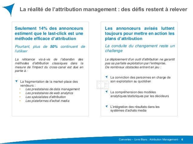 Converteo – Livre Blanc : Attribution Management - La réalité de l'attribution management : des défis restent à relever 6 ...