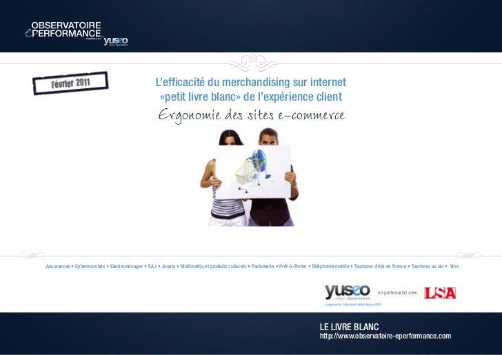L'efficacité du merchandising sur internet                                                    «petit livre blanc» de l'exp...