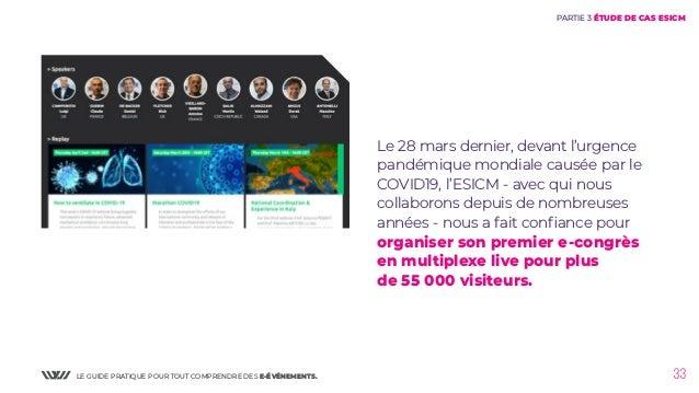LE GUIDE PRATIQUE POUR TOUT COMPRENDRE DES E-ÉVÉNEMENTS. 33 Le 28 mars dernier, devant l'urgence pandémique mondiale causé...