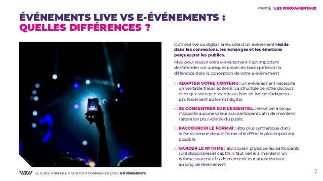 LE GUIDE PRATIQUE POUR TOUT COMPRENDRE DES E-ÉVÉNEMENTS. 7 PARTIE 1 LES FONDAMENTAUX :·: ADAPTER VOTRE CONTENU : un e-évén...