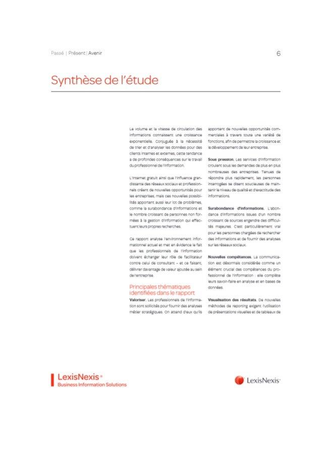 Livre blanc LexisNexis BIS Passe Présent Futur de la gestion de l'information Slide 2