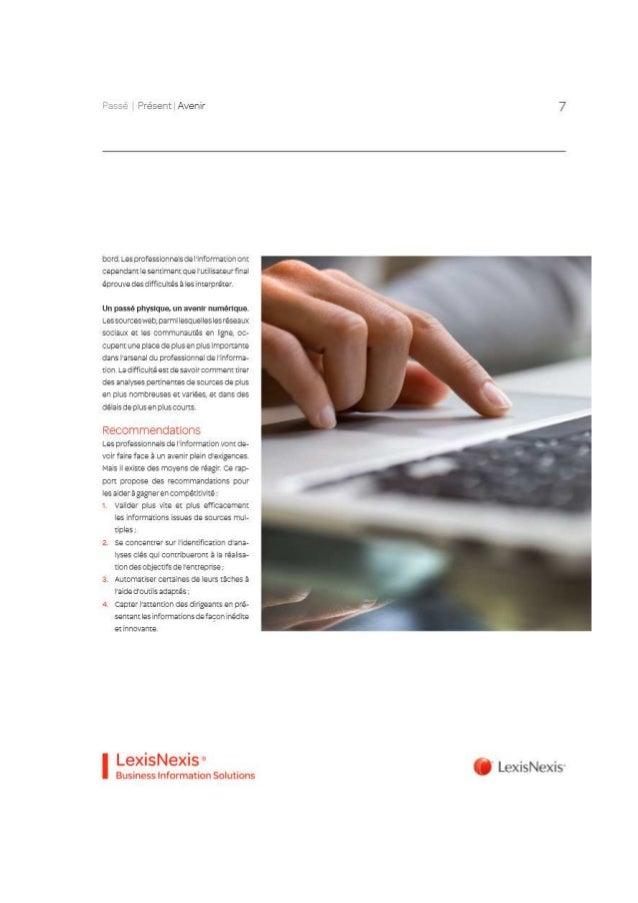 Livre blanc LexisNexis BIS Passe Présent Futur de la gestion de l'information Slide 3