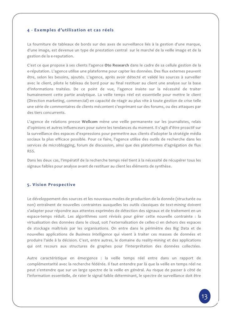4 - Exemples d'utilisation et cas réelsLa fourniture de tableaux de bords sur des axes de surveillance liés à la gestion d...