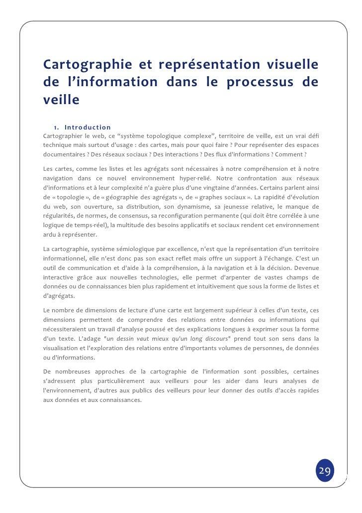 Cartographie et représentation visuellede l'information dans le processus deveille   1. IntroductionCartographier le web, ...