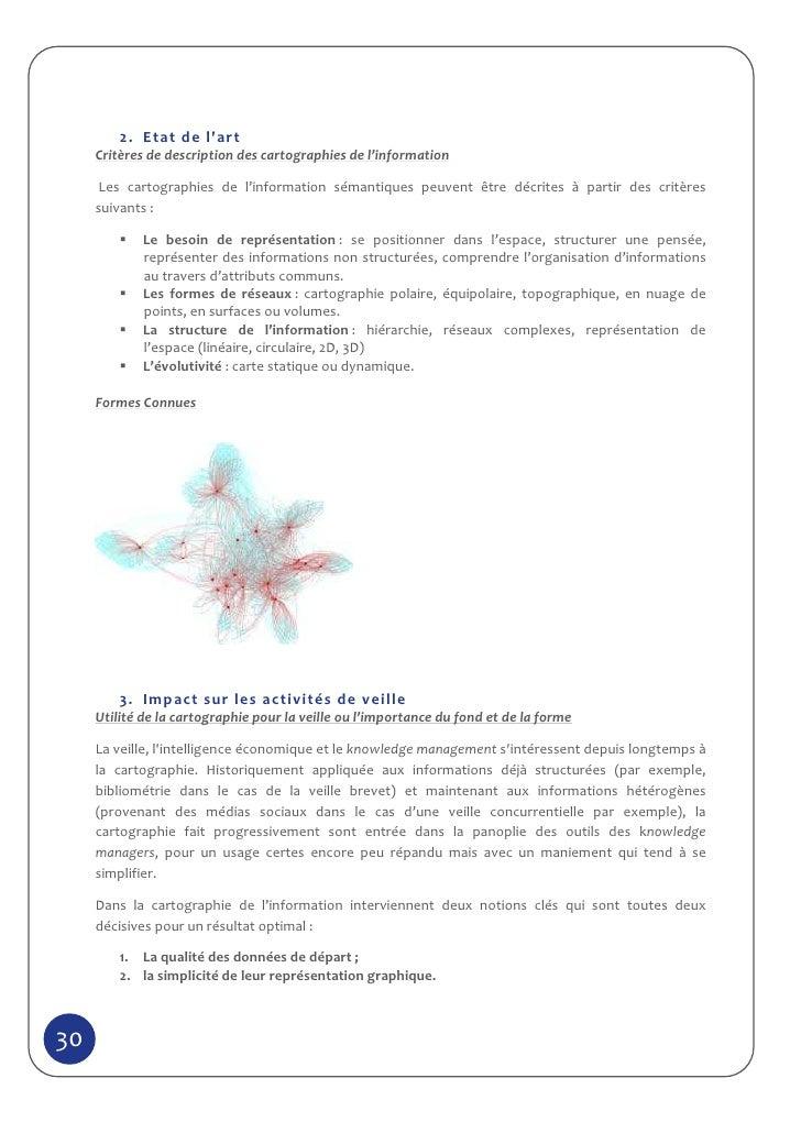 2. Etat de lart     Critères de description des cartographies de l'information      Les cartographies de l'information sém...
