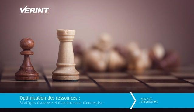 Optimisation des ressources : Stratégies d'analyse et d'optimisation d'entreprise