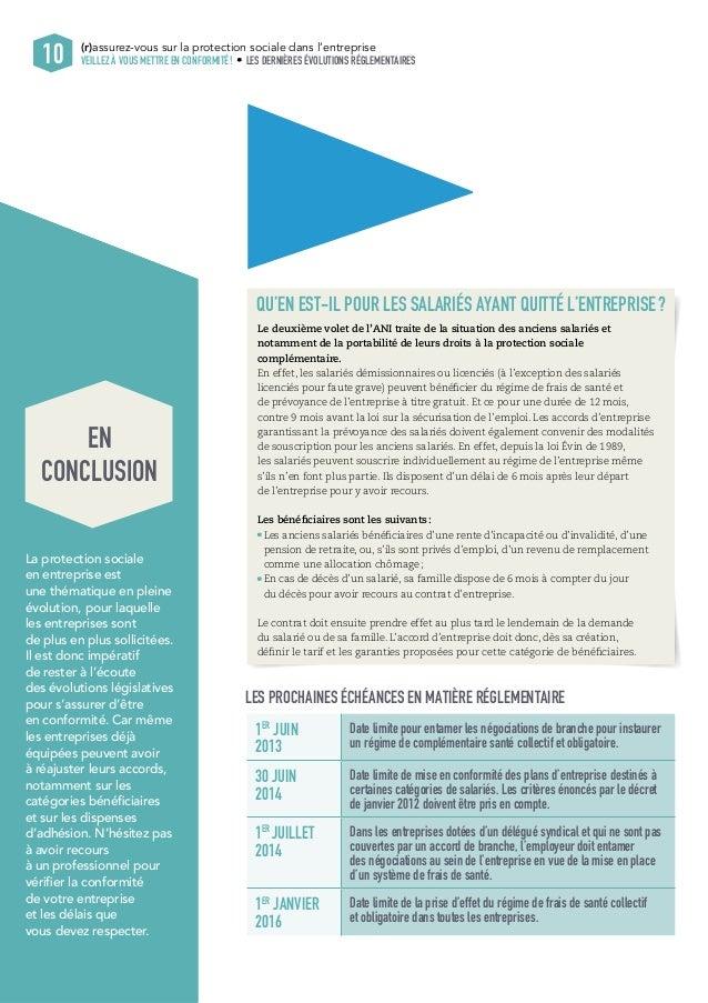 10 (r)assurez-vous sur la protection sociale dans l'entreprise  VEILLEZ À VOUS METTRE EN CONFORMITÉ ! LES DERNIÈRES ÉVOLUT...