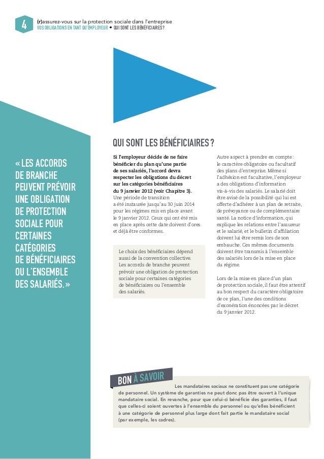 (r)assurez-vous sur la protection sociale dans l'entreprise  VOS OBLIGATIONS EN TANT QU'EMPLOYEUR QUI SONT LES BÉNÉFICIAIR...