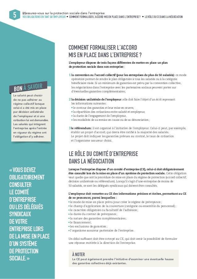 (r)assurez-vous sur la protection sociale dans l'entreprise  5 VOS OBLIGATIONS EN TANT QU'EMPLOYEUR COMMENT FORMALISER L'A...