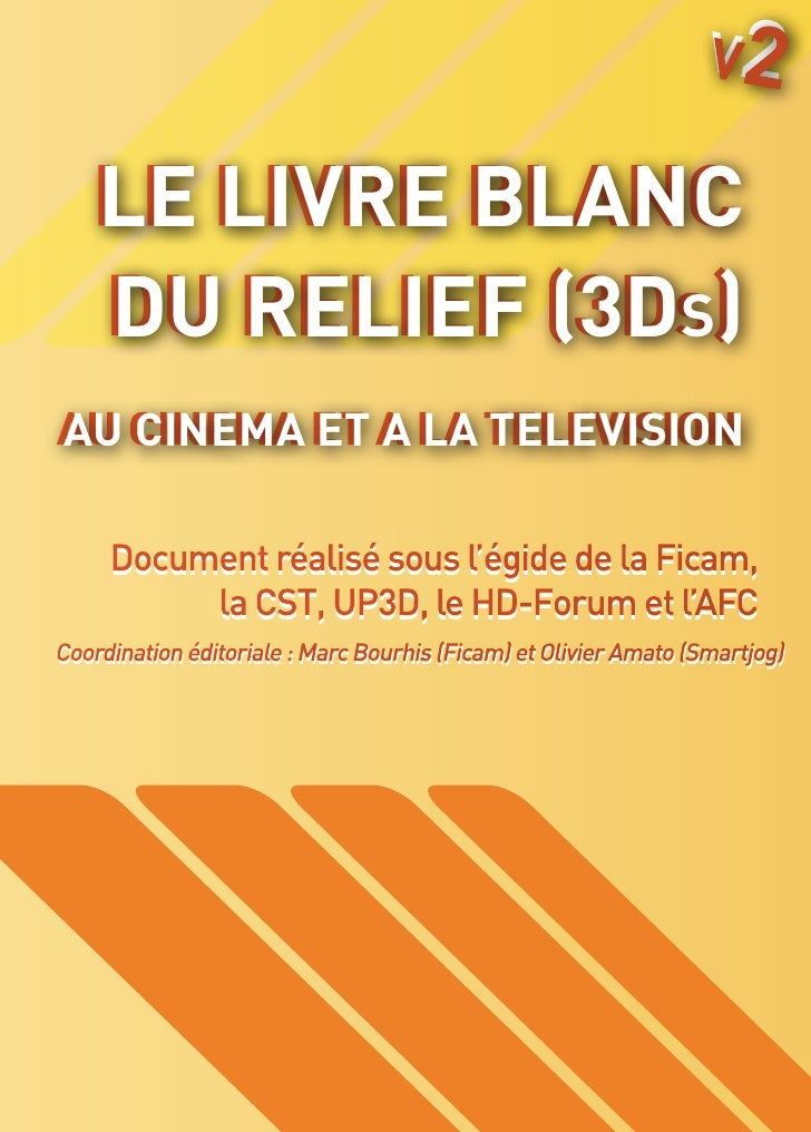 V2   Le livre blanc   dU RELIEF (3Ds)                sAU CINEMA ET A LA TELEVISIONAU CINEMA ET A LA TELEVISION     Documen...