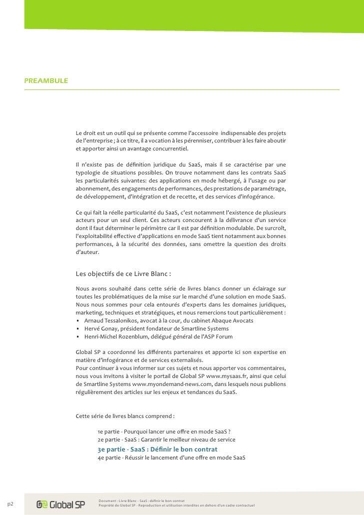 Livre Blanc Saas Definir Le Bon Contrat