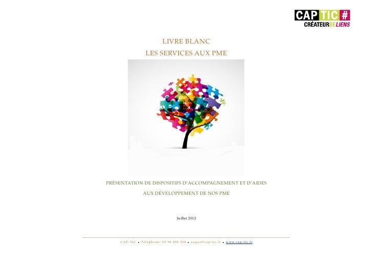 LIVRE BLANC                              LES SERVICES AUX PME    PRÉSENTATION DE DISPOSITIFS D'ACCOMPAGNEMENT ET D'AIDES  ...
