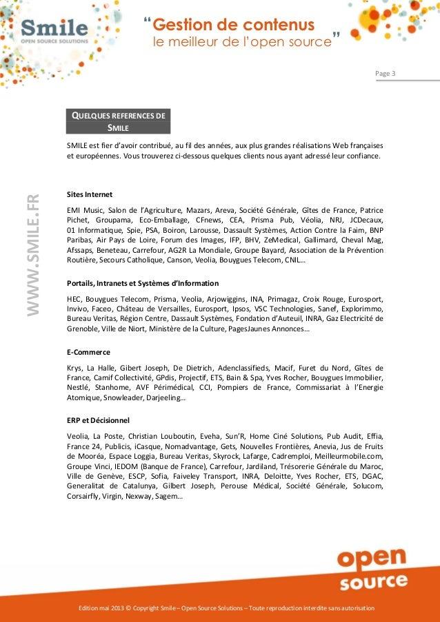 Livre blanc Smile - Le meilleur des CMS open source Slide 3