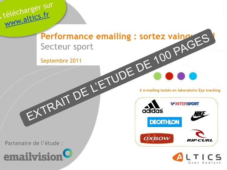 g er sur       échar s.frA t é l .altic   www                Performance emailing : sortez vainqueur !                    ...