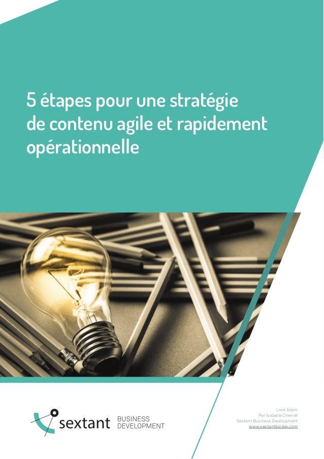 5 étapes pour une stratégie de contenu agile et rapidement opérationnelle Livre blanc Par Isabelle Chevret Sextant Busines...