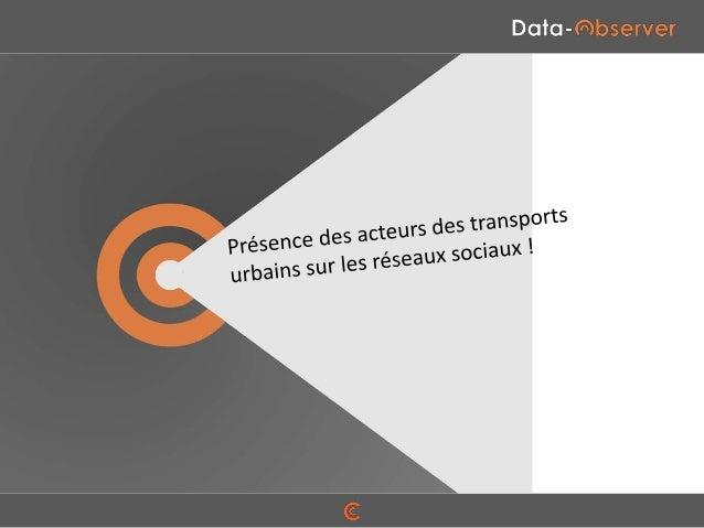 SOMMAIRE  Méthodologie PAGE 4  Audience des acteurs des transports publics PAGE 7  Dynamisme des acteurs des transports pu...