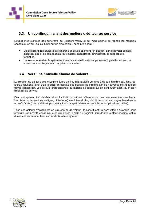 3.3. Un continuum allant des métiers d'éditeur au service L'expérience cumulée des adhérents de Telecom Valley et de l'Apr...