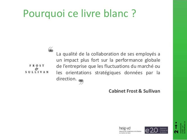 Pourquoi ce livre blanc ? La qualité de la collaboration de ses employés a un impact plus fort sur la performance globale ...