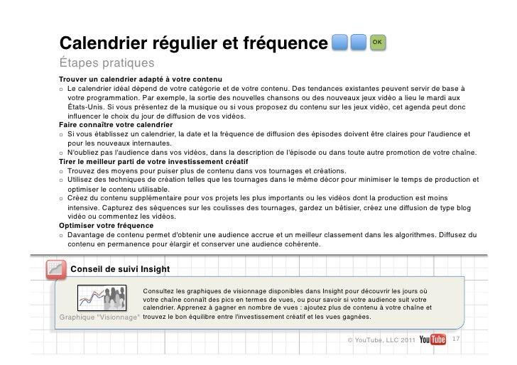 Calendrier régulier et fréquence                                                                OKÉtapes pratiquesTrouver ...