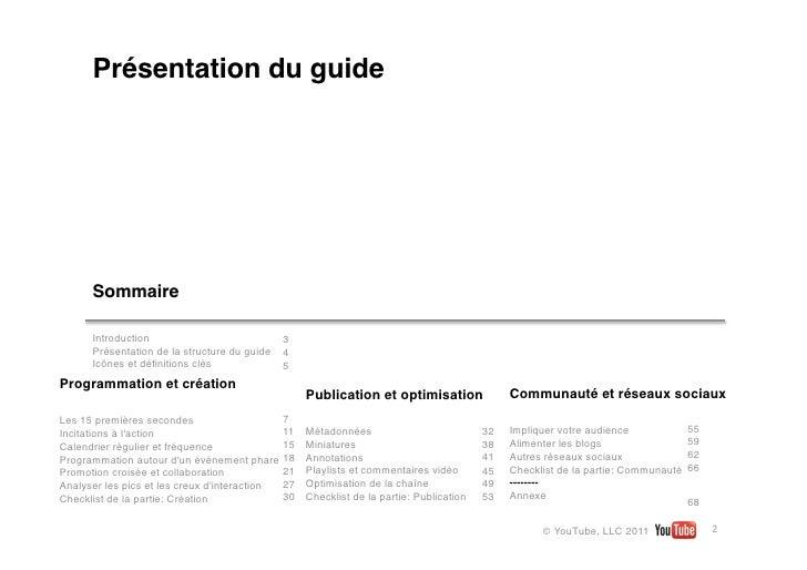 Présentation du guide      Sommaire      Introduction                          3      Présentation de la structure du guid...