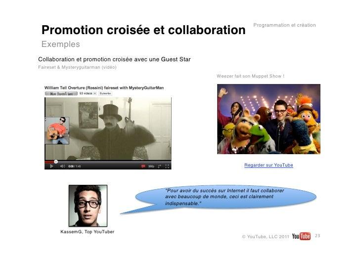 Programmation et création Promotion croisée et collaboration ExemplesCollaboration et promotion croisée avec une Guest Sta...